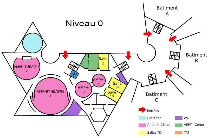 Plan du niveau 0